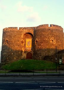 Hugh de Lacy's Banner on Carrickfergus Castle