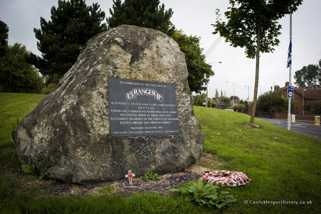 US Rangers Memorial, Carrickfergus